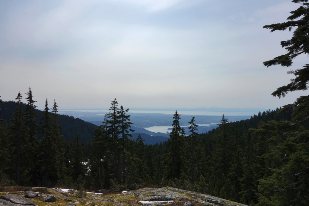 View of Vancouver and the Indian Arm from eagle peak