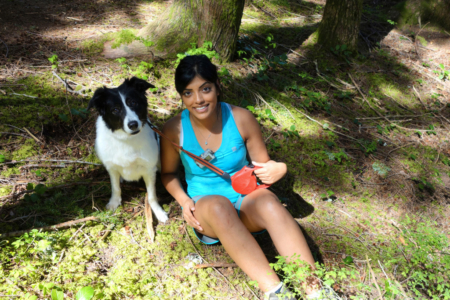 Skeena and I on Evans Peak Trail