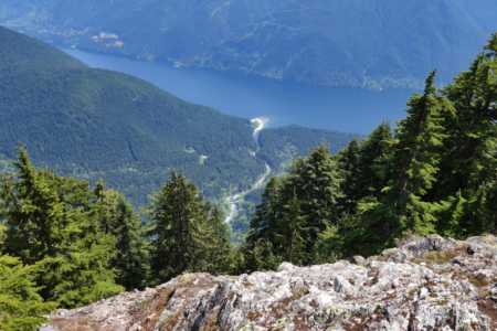 View of Gold Creek and Alouette Lake from Evans Peak