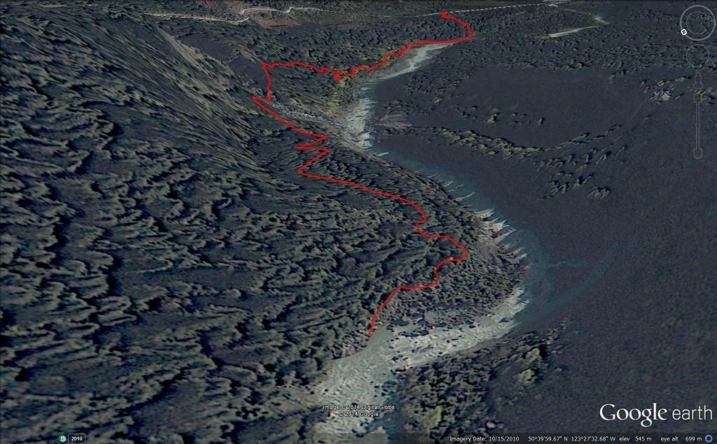 Pebble Creek Hot Springs Google Earth 3D View