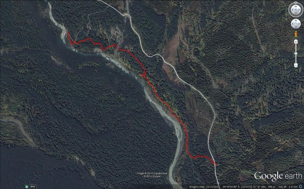 Pebble Creek Hot Springs Google Earth Birdseye View
