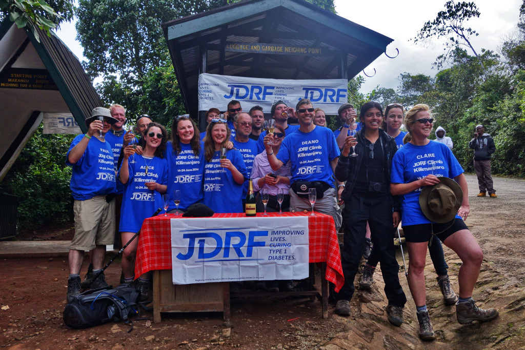 End of Trek Celebration JDRF Marangu Route Mt. Kilimanjaro Tanzania