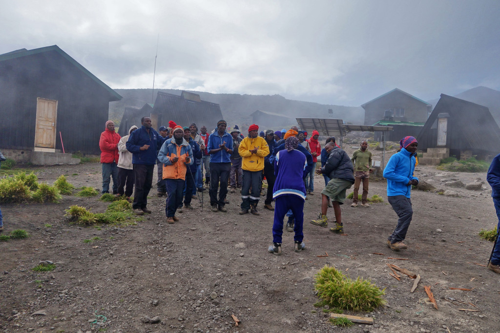 Horombo Hut celebration marangu route mt kilimanjaro