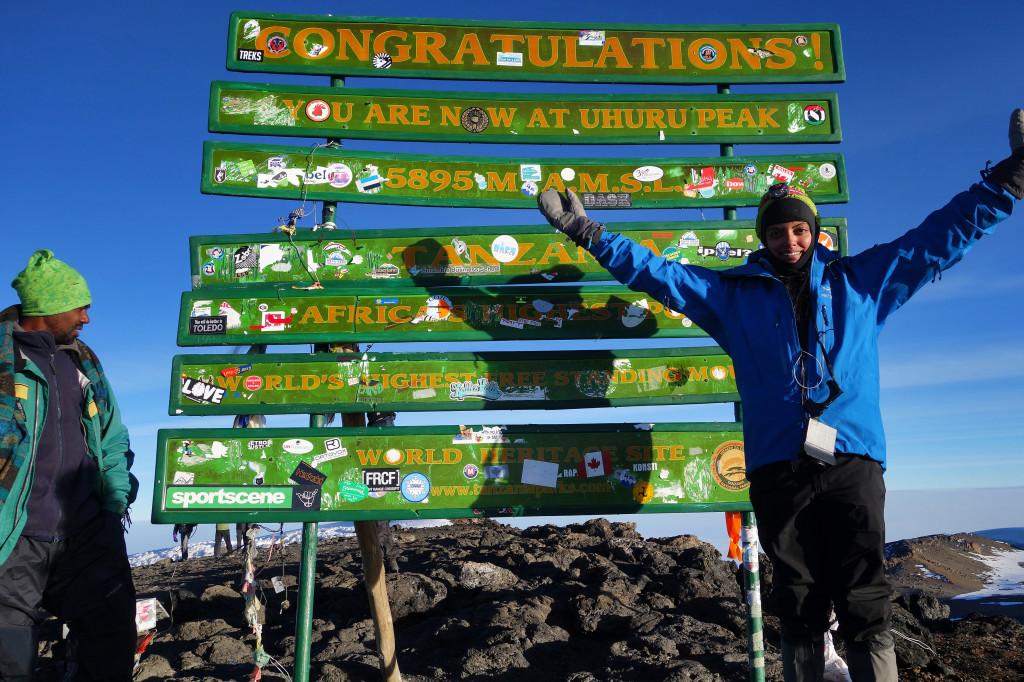 Summit Shot Uhuru Peak Mt. Kilimanjaro Tanzania