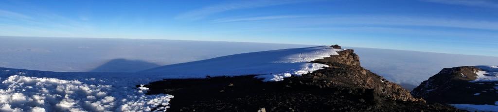 Uhuru Peak Pano Mt Kilimanjaro Tanzania