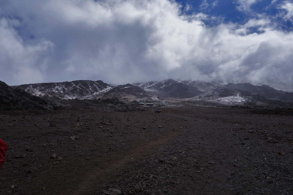 Viiew of Kibo Hut marangu route mt kilimanjaro