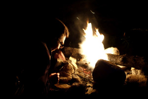 Ryan Tending the Fire