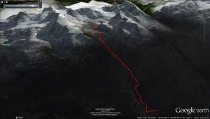 Wedgemount Lake Hike 3D View
