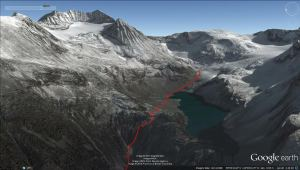 Wedgemount Lake and Glacier 3D