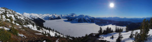 Panorama - Garibaldi Lake from Panorama Ridge