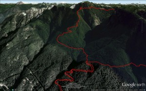 2015-03-07 - Magnesia Meadows overnighter - Google Earth 3d - Day 1