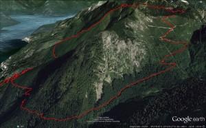 2015-03-07 - Magnesia Meadows overnighter - Google Earth 3d - Harvey Basin