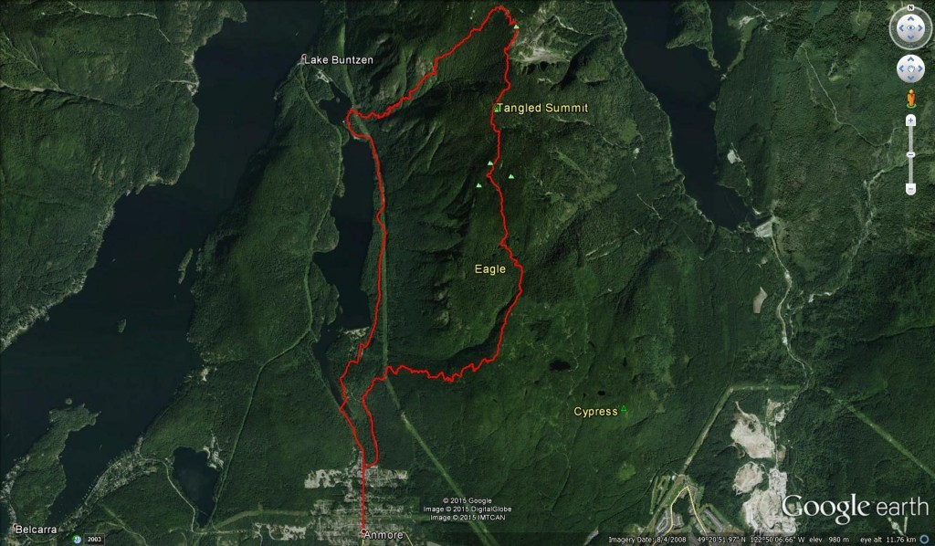 2015-04-18 – Swan Falls Loop – Google Earth Birdseye View