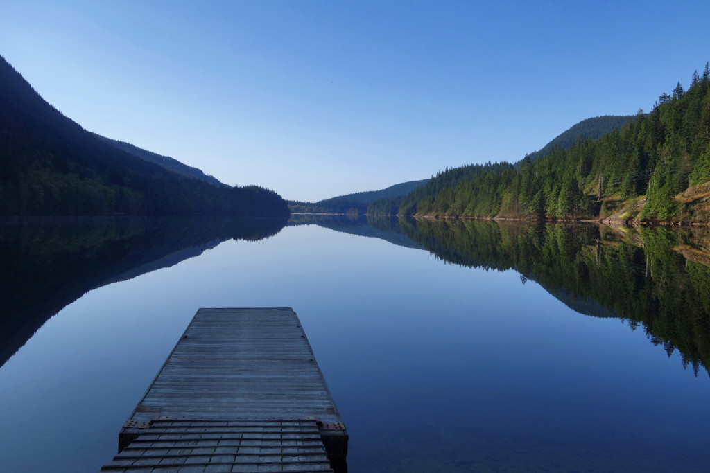 View of Buntzen Lake from the North Beach