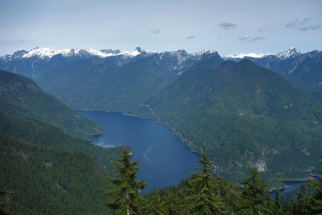 View of Coquitlam Lake along Eagle Ridge
