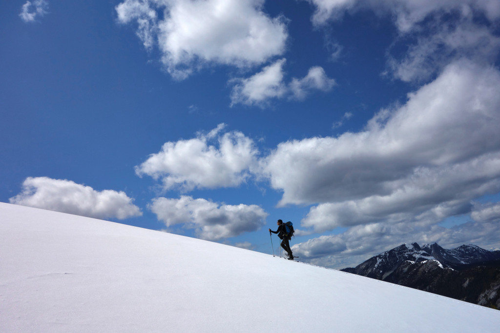 Approaching the Summit of Iago Peak