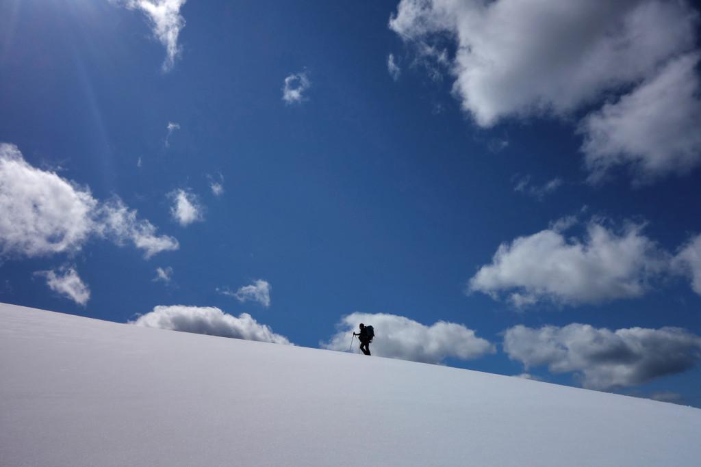 Approaching the Summit of Iago Peak