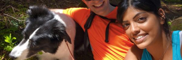 Selfie Attempt with Skeena on the evans peak trail