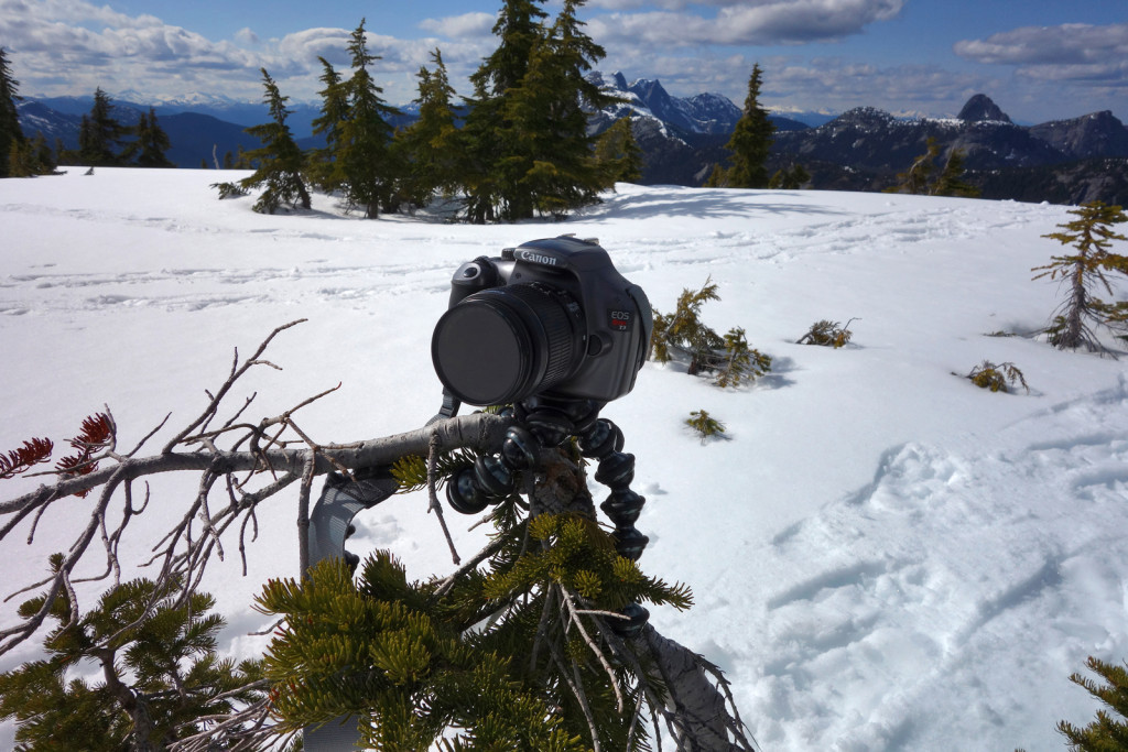Using the Gorilla Tripod on Iago Peak