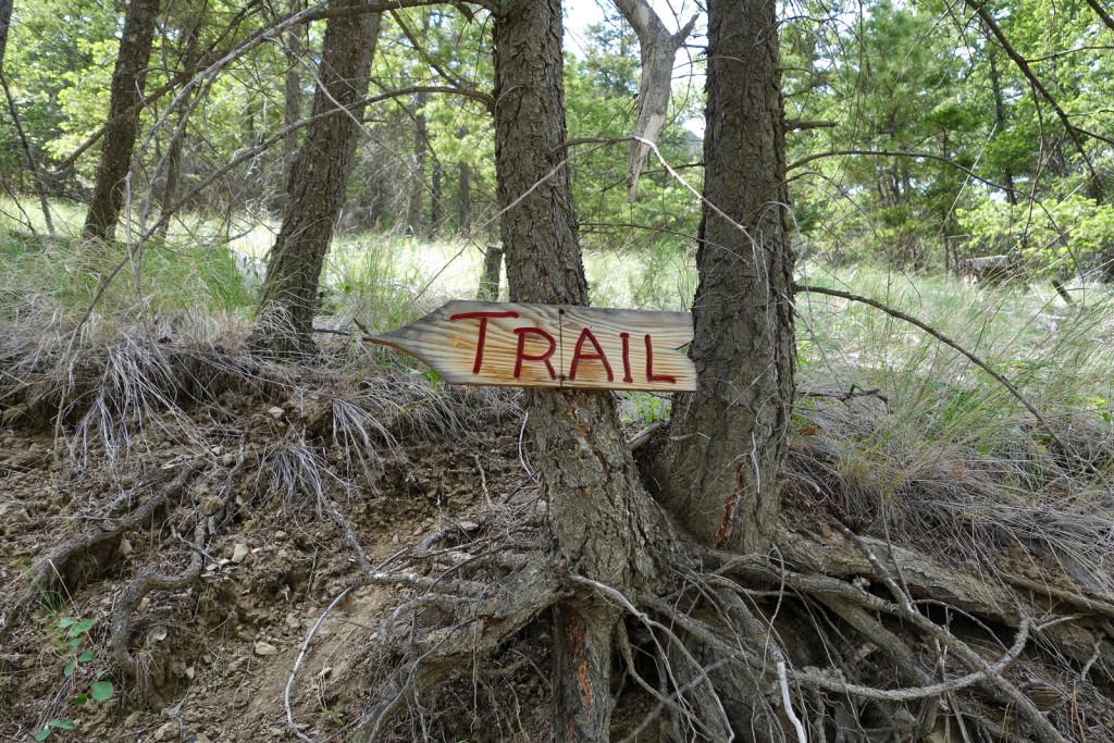 Trailhead Sign Fire Lookout trail west pavilion