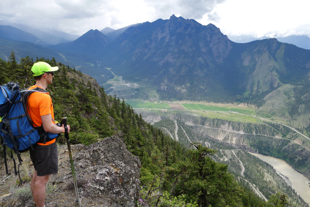 Ryan Looking out into the Fraser Canyon fire lookout trail camelshoof peak