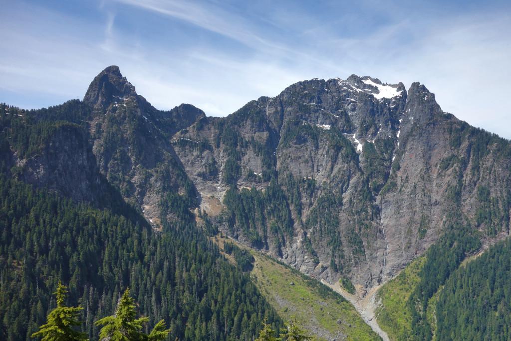 View Blanshard Needle and Edge Peaks from evans peak