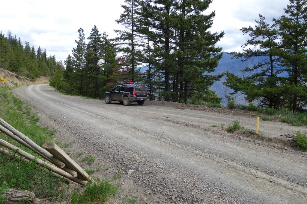 View of Parking Spots Fire Lookout trail west pavilion