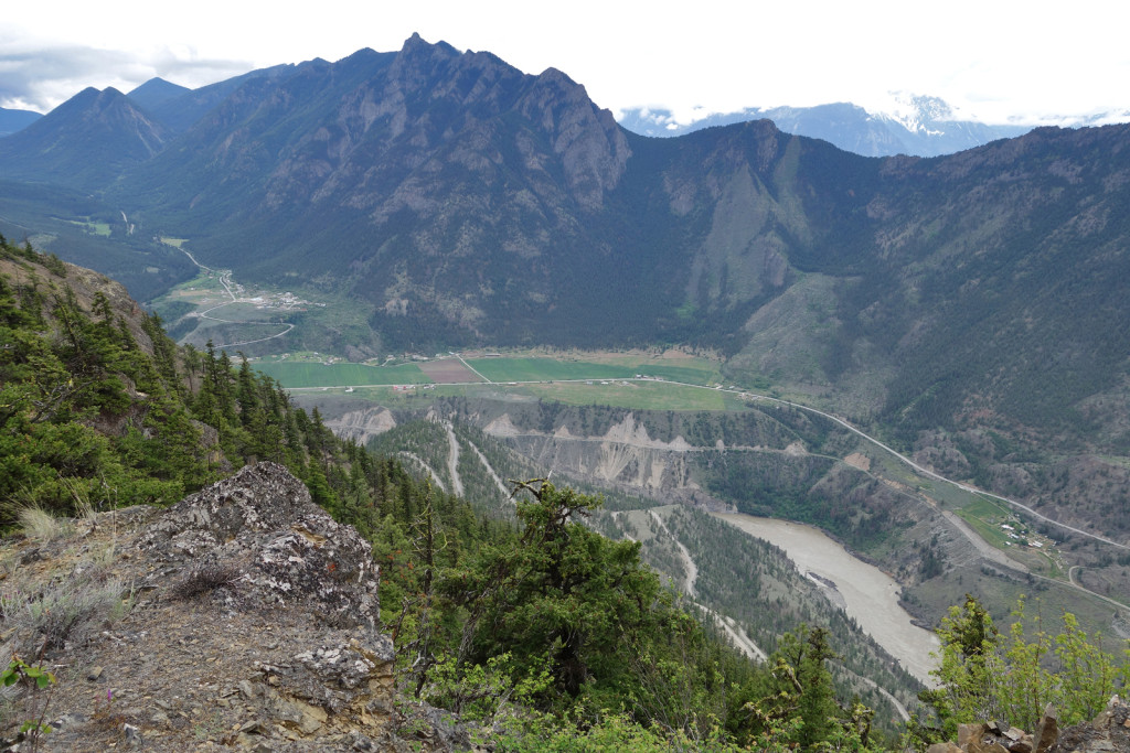 View of the Fraser Canyon and Fountain Head Valley fire lookout trail west pavilion