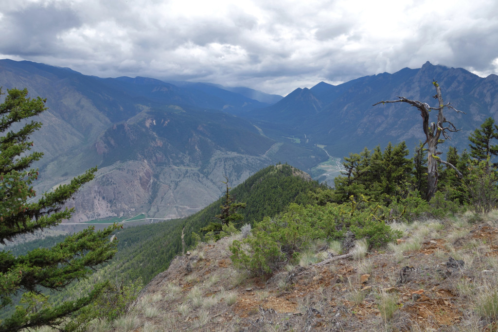View of the First Viewpoint fire lookout trail west pavilion