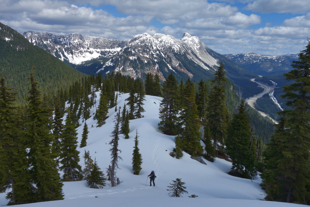 Looking Back Along the Ridge to Iago Peak