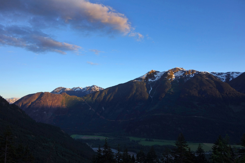 Early Sunset from the Hurley fsr pemberton
