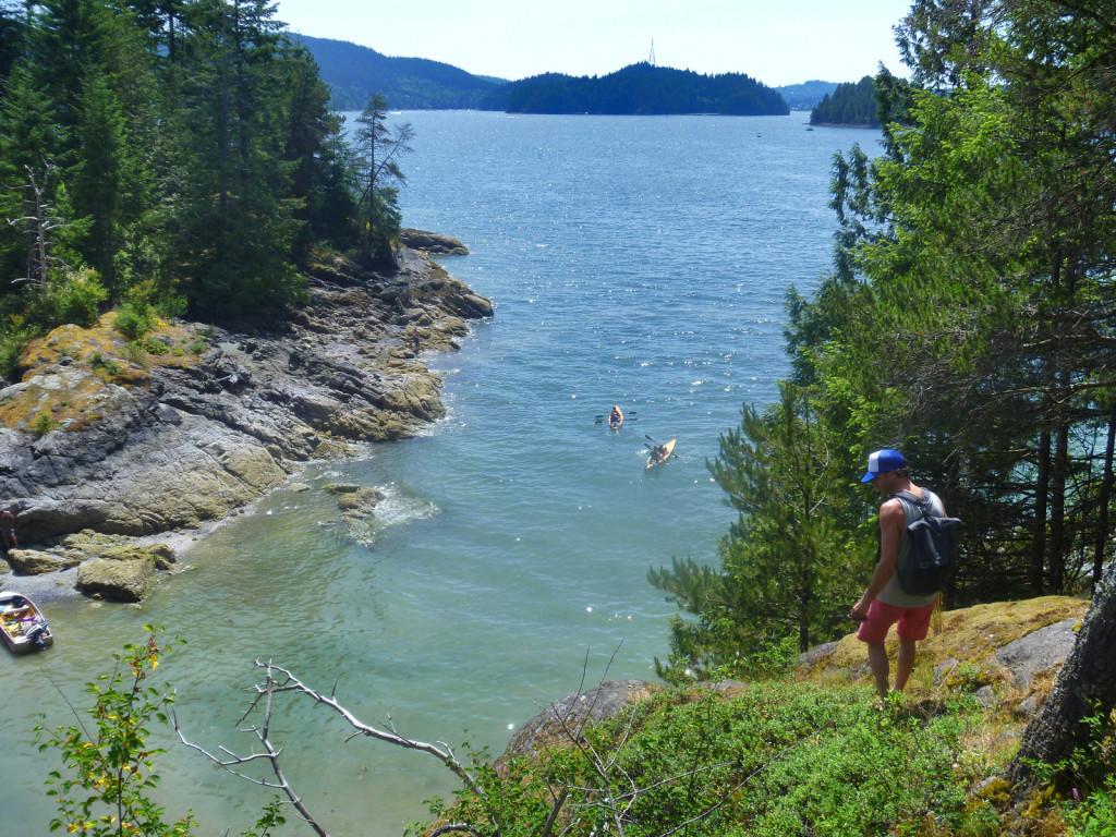 View Between the Twin Islands  indian arm kayak