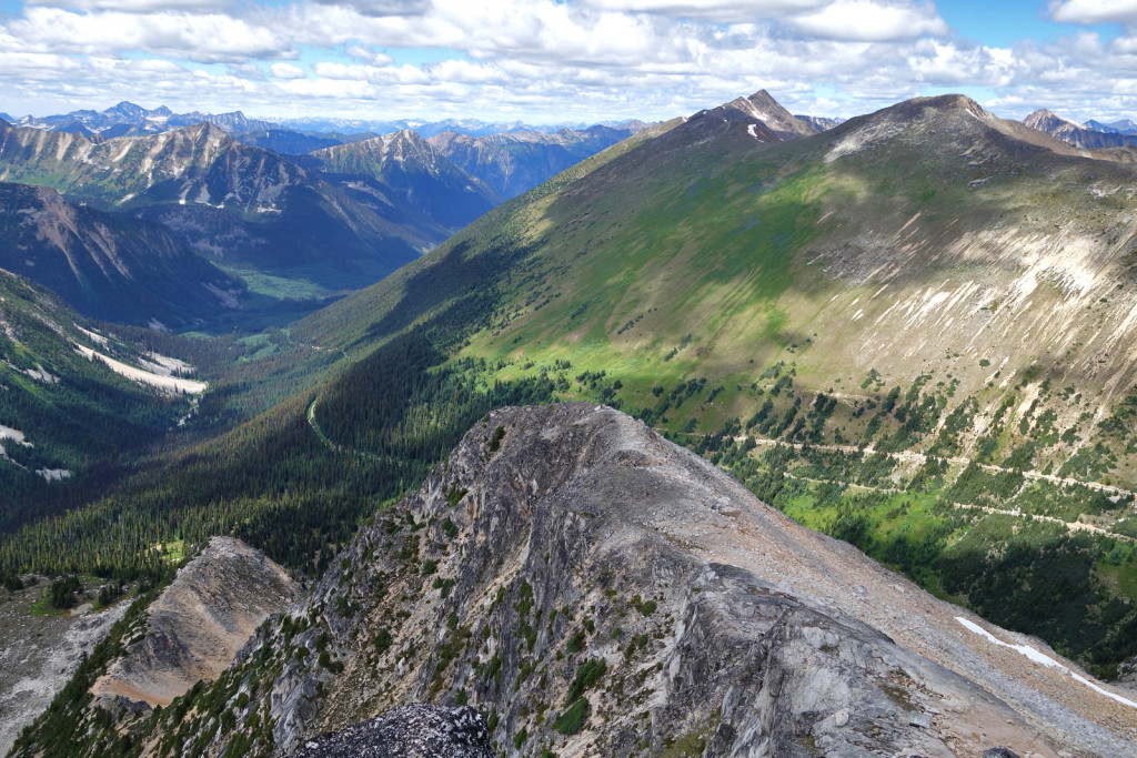 View of Gotcha's Sub-Summit and Gott Peak in the Background blowdown fsr duffey highway