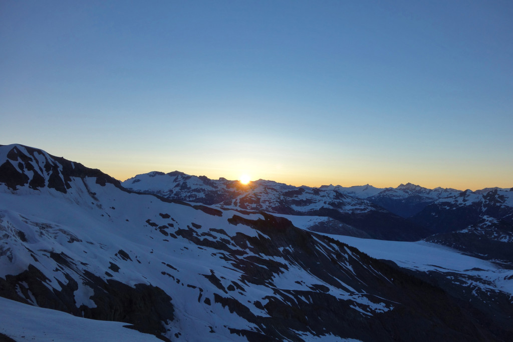 Summer Solstice Sunrise on Little Diamond Head garibaldi provincial park
