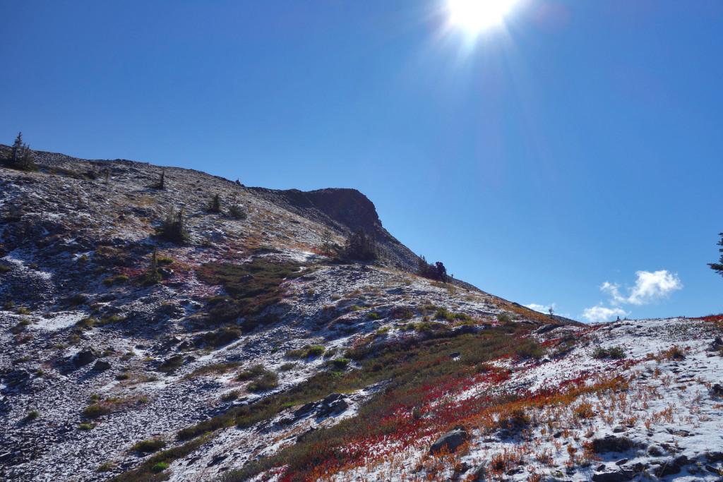 Asending Illal Peak Coquihalla Highway