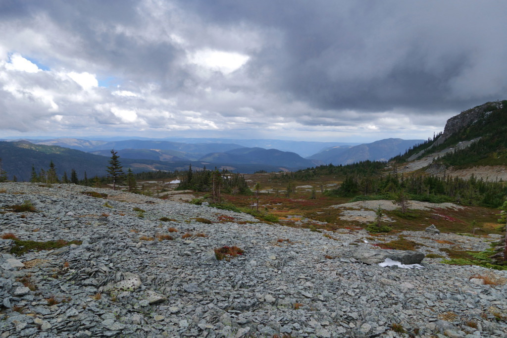 View of Middle Illal Meadows Coquihalla Highway
