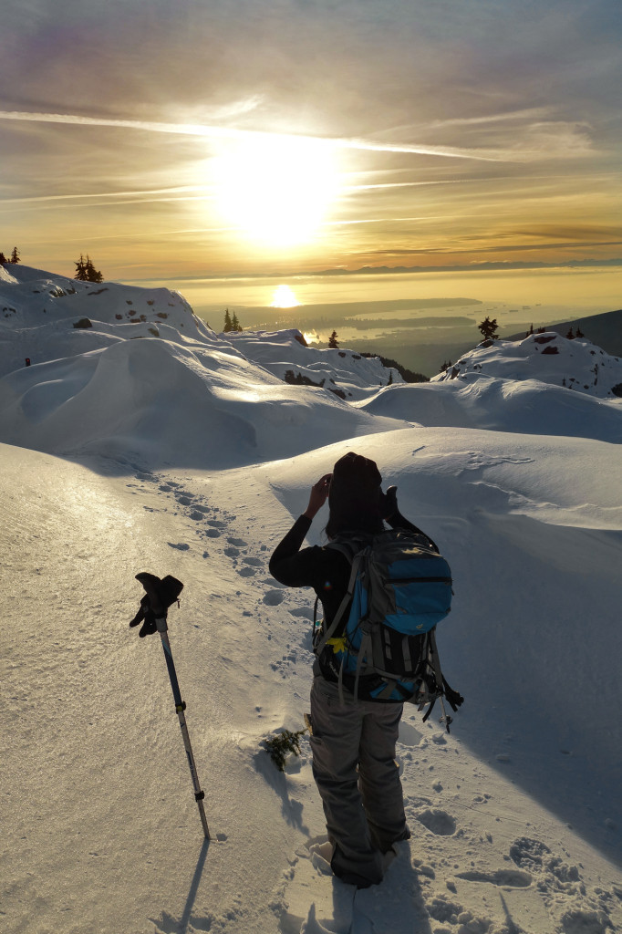 Sunset on Mt. Seymour, adventures of a t1d, ashika parsad, type 1 diabetes, hiking bc, north shore
