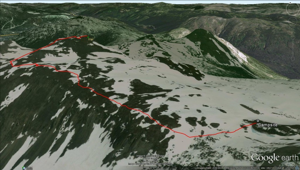 Illal Peak – Google Earth 3D View