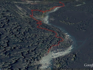 Pebble Creek Hot Springs Google Earth 3D View