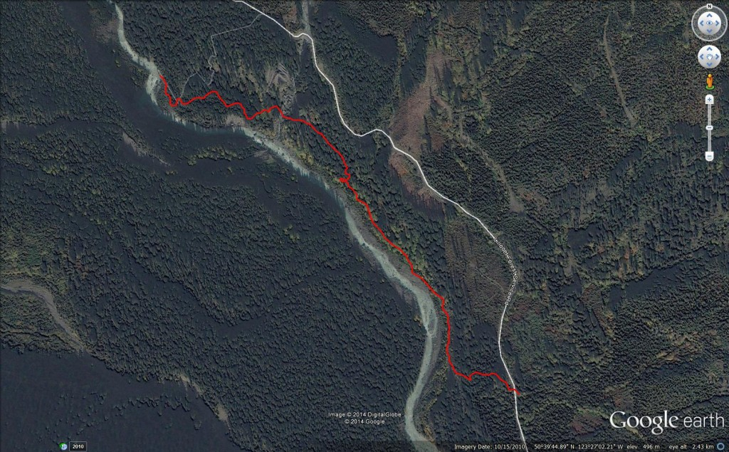 Pebble Creek Hot Springs Google Earth Birdseye View