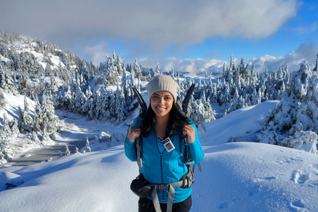 Adventures of a T1D, Type 1 diabetes, Ashika Parsad, Hiker, Adventurer, Mt. Seymour, North Shore, Winter, hiking, snow conditions north shore