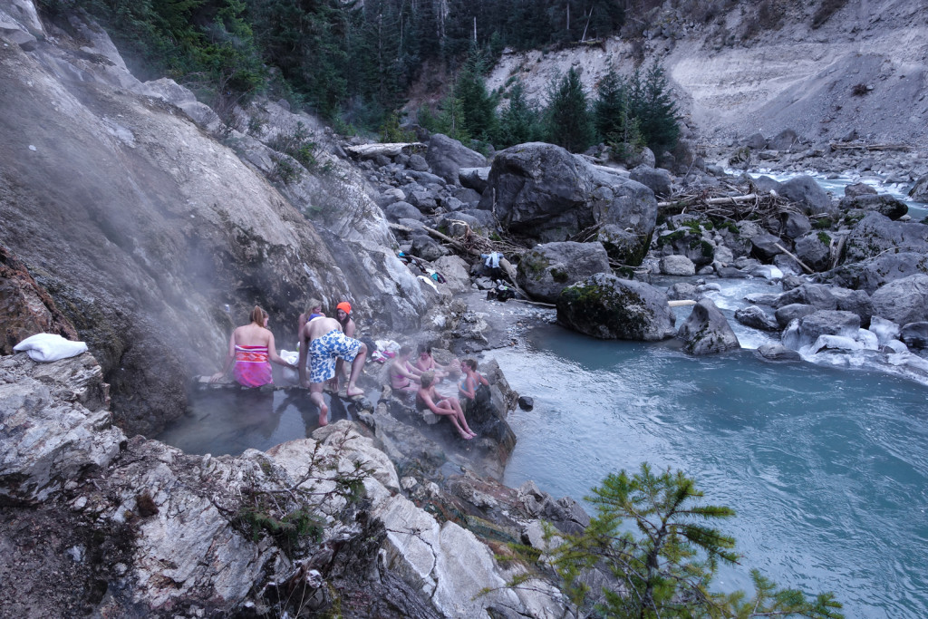 Pebble Creek Hot Springs, Keyhole Falls, Pemberton, Hiking, Natural Hotsprings