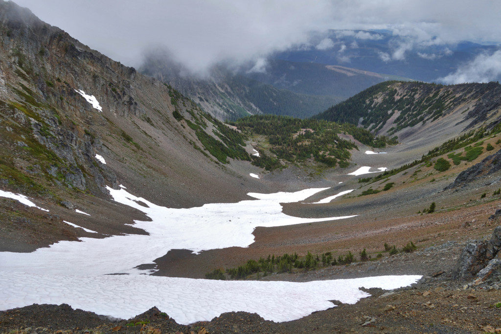 Snow Patches Along the Trail to First Brother