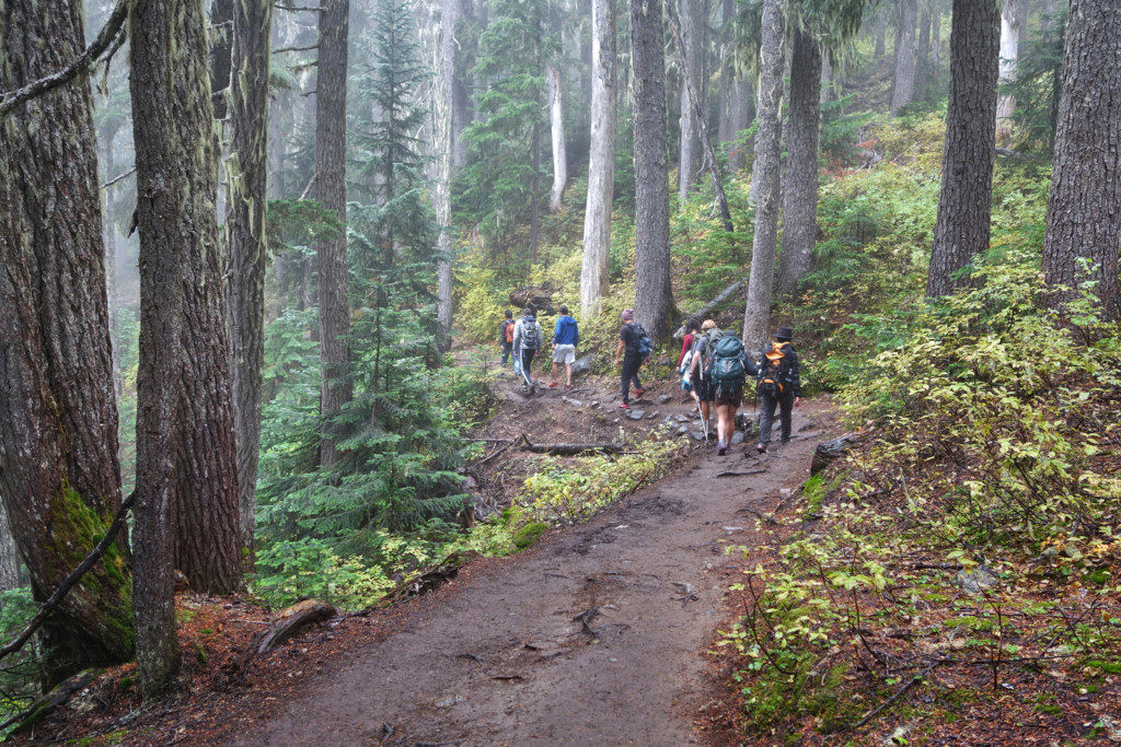 Crowds Along the Garibaldi Lake Trail